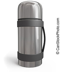 thermos ower white background. 3d rendered image