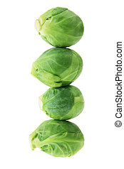 Brussel Sprouts on White Background