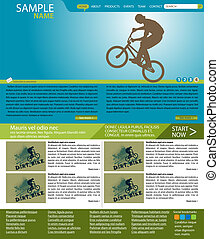 Vector web site layout - Full editable vector web layout on...