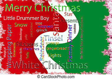 Christmas Word cloud - Word cloud concept illustration of...
