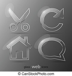 Set of web icons. Vector illustration. Eps 10