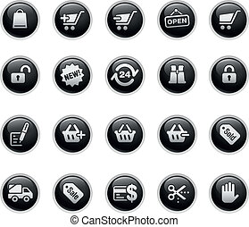 Shopping  - Vector buttons.