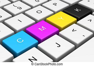 CMYK computer key