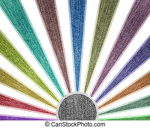Creativity grunge multicolored stripes jean background.