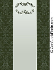 Vector floral background and frame