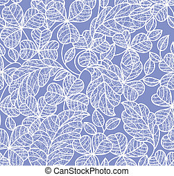 leaf lace background - leaf background, seamless blue...