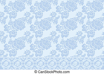 ornament background old vector blue