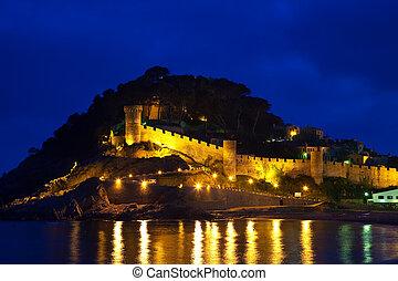 View of Vila Vella castle - View of Vila Vella castle. Tossa...