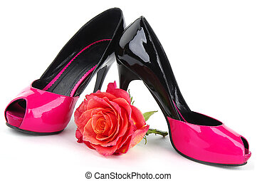 Elegant choes with rose
