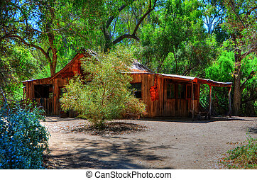 Old Western Ranch House - Old western ranch house in the...