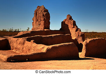 Indian Ruins - Casa Grande National Monument ruins of the...