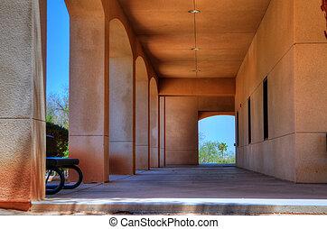 Modern school Hallway