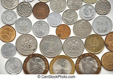 Coins of different countries - Collection of coins from...
