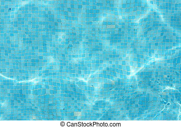 Swimmingpool - reflections in a swimming pool.on a very...
