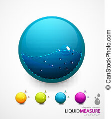 Liquid measure elements - Design elements for water or othe...