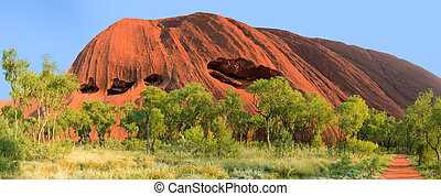 ayers rock - Uluru, Australia - September 2011: Uluru or...