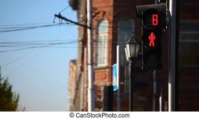 Traffic light - Pedestrian traffic lights in Novosibirsk
