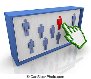 3d hand pointer selection - 3d hand cursor selecting unique...