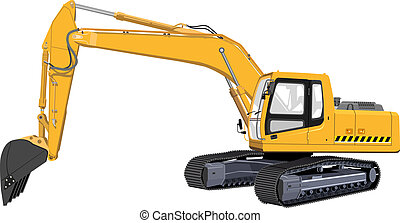 Excavator The Illustration in format vector eps