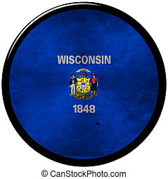 metallic button of wisconsin