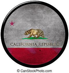 metallic button of california