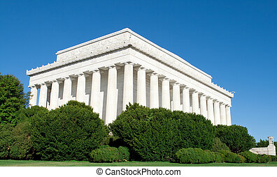 Blue Sky Exterior Lincoln Memorial Washington DC - Outside...