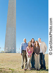 Extended Family Washington Monument Tourists DC - Three...