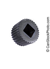Machine Part - A newly manufactured part of an industrial...