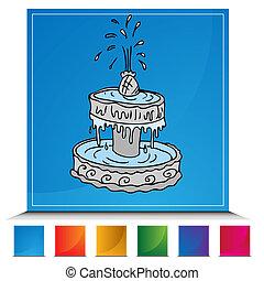 Fountain Button Set - An image of a Fountain button set.