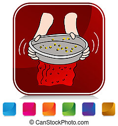 Panning for Gold Button Set - An image of a Panning for Gold...
