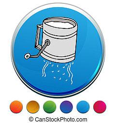 Flour Sifter Button Set - An image of a Flour Sifter button...
