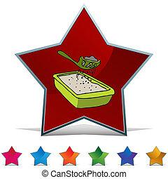 Kitty Litter Sifter Button Set - An image of a Kitty Litter...