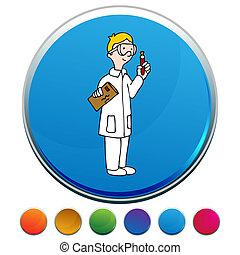 Lab Technician Button Set
