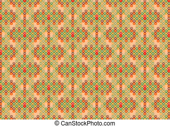 Dark circles retro pattern background - Dark circles retro...