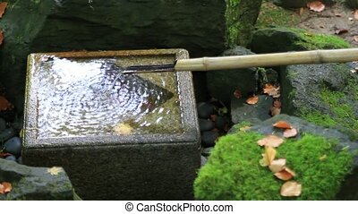 Water Fountain in Japanese Garden