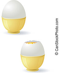 Vector illustration of eggs with yolk