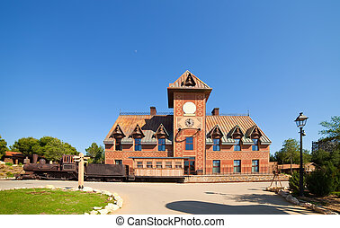 railway station at Far west town - Far west Theme Park near...