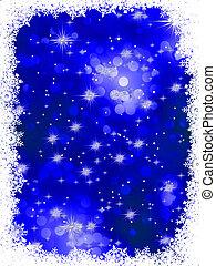 Blue grunge christmas background. EPS 8