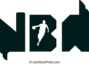 Nba typography - This design is also drawn in Adobe...