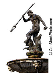 Neptune God of the Sea - The Neptune, bronze statue of the...