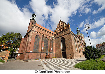 St Bridget Church in Gdansk - Gothic style St Bridget Church...