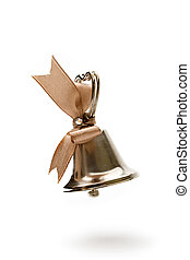 Handbell isolated on the white background