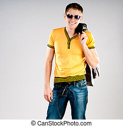 fashion man in sunglasses