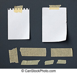 note paper with adhesive tape message