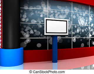 3d toon background