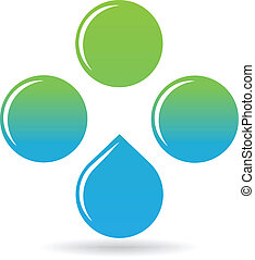 Natural Energy - An abstract logo with waterdrops...