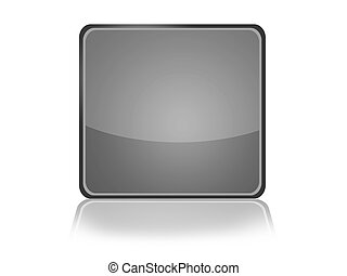 Web Button with reflection - Square Web Button with...