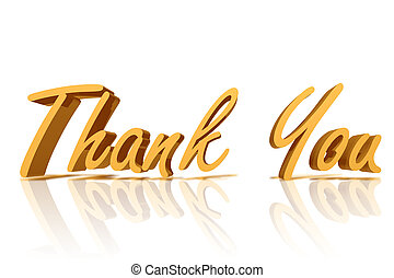 Thank you - Golden Thank You with copy space