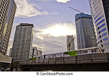 Cityscape scenes has been taken from skytrain station in the...
