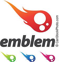 Fire Ball Design Element - Business corporate design...
